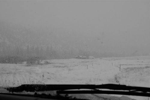 The scene presented to us after we drove through the farm entrance on Christmas Day. Lots more plowing to do after the Christmas Day luncheon with Libby.