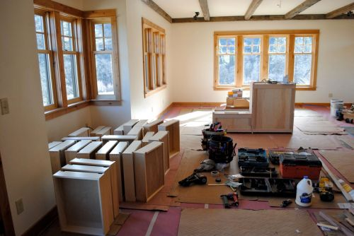 Cabinets galore, and they all had to be painted.