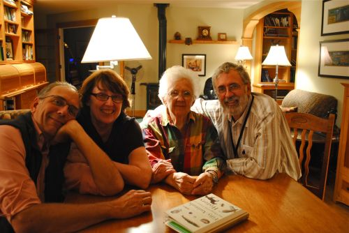 Libby turns 100. Her three children: John, Barb, and Bruce.