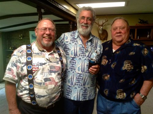 Bruce with his childhood friends Walt and Dun Shull.
