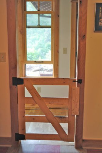 Bruce built three of these lovely gates to provide a farm-feel barrier between  the mudroom and the main house.